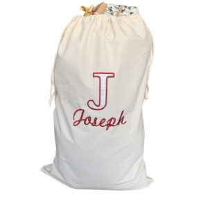 Deluxe Jajo canvas personalised Santa gift sack JDLAS19
