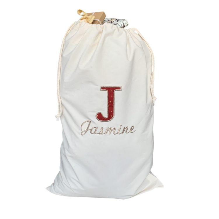 Jajo Canvas applique christmas sack JCACS19