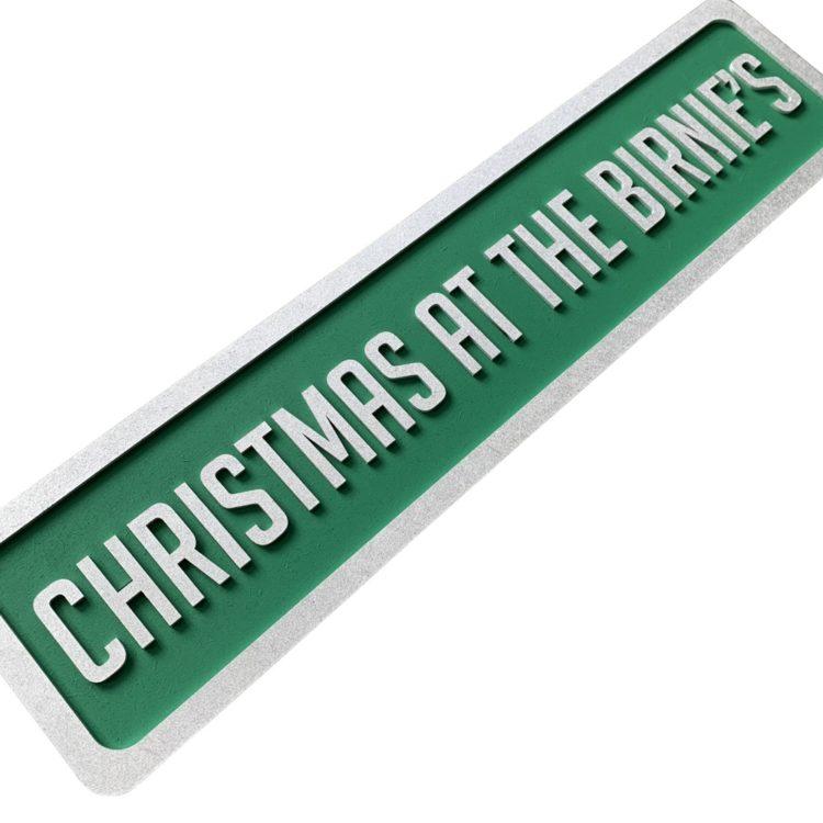 Jajo Green Christmas Sign JGCS19 angled