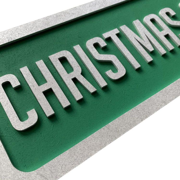 Jajo Green Christmas Sign JGCS19 close