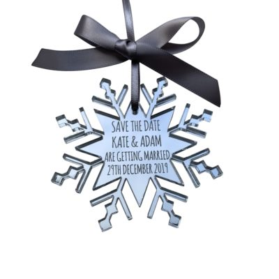Jajo Mirror SNowflake Save the Date JMSTD118