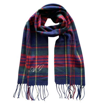 Jajo Monogram Checked Scarf JMCS19