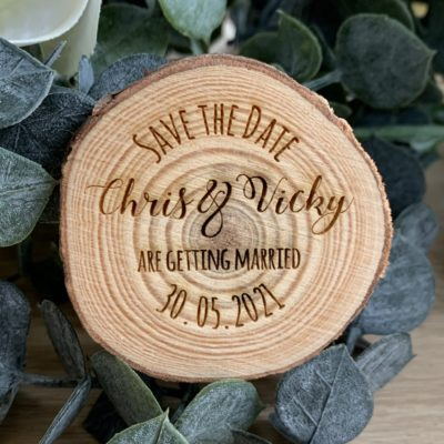 Jajo Save the Date slice design JLSTDM617