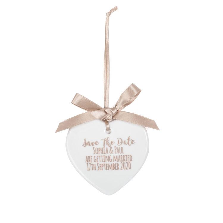 Jajo ceramic heart save the date JSSTD17