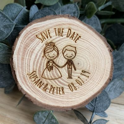 Jajo couples save the date slice JSTDMrMrsC18