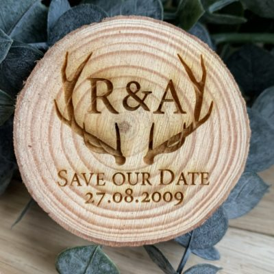 Jajo rustic antler save the date JASTD19