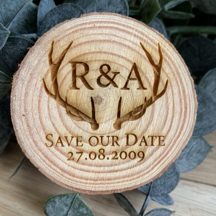 Jajo rustic antler save the date JASTD19