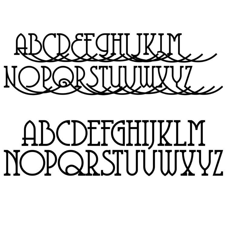 c christmas eve box fonts