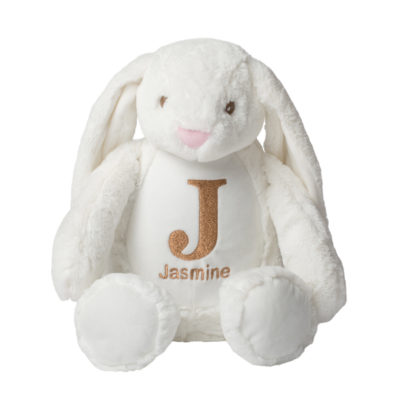 Jajo Bunny rabbit embroidered plush JEBRP19