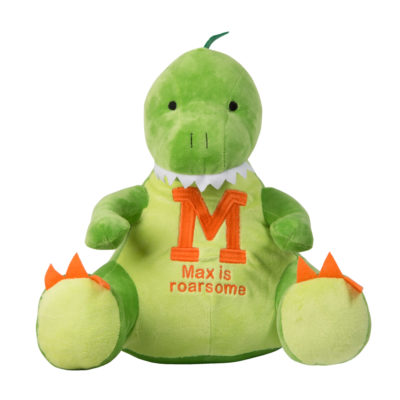 Jajo embroidered dinosaur plush personalised JEDP19