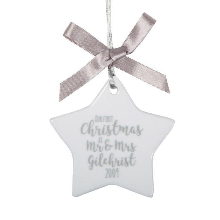 Jajo first christmas ceramic star JFCWCS17 close