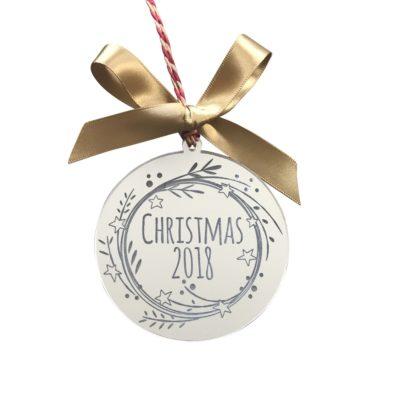 Jajo mirror star wreath christmas decoration JMSC18