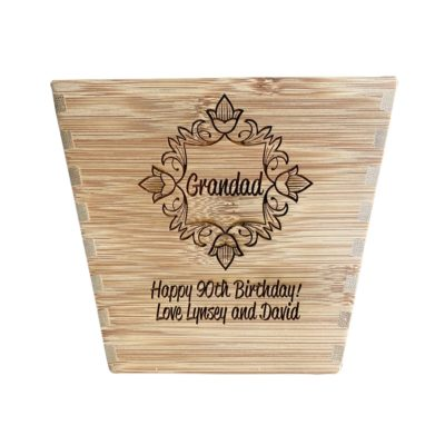 Jajo personalised bamboo plan pot JBPP17