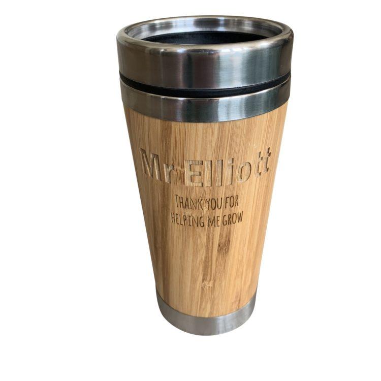 Jajo personalised bamboo thermal mug JBTM19