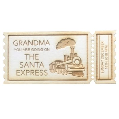 Jajo ticket christmas train JCTTR18