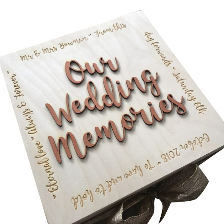 Jajo wedding memory keepsake box JWMB17 angled