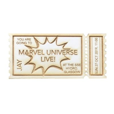 jajo Marvel ticket JCTSHB18