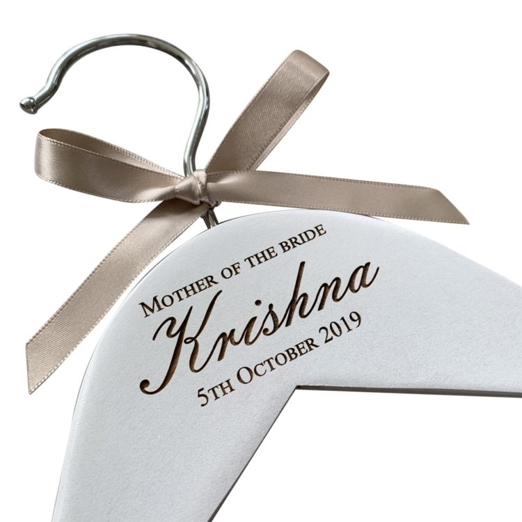 jajo engraved wedding hanger emb design JEWHE19