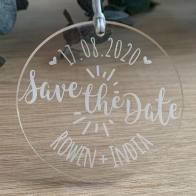 Jajo acrylic burst save the date JBASTD20