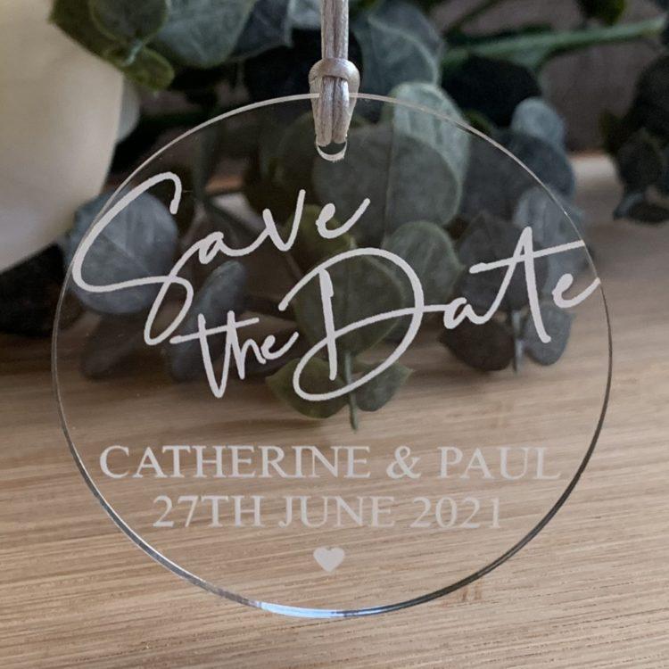 Jajo acrylic save the date invite J19ASTD20