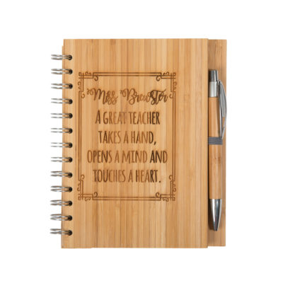 Jajo great teacher bamboo notebook JBTHB17