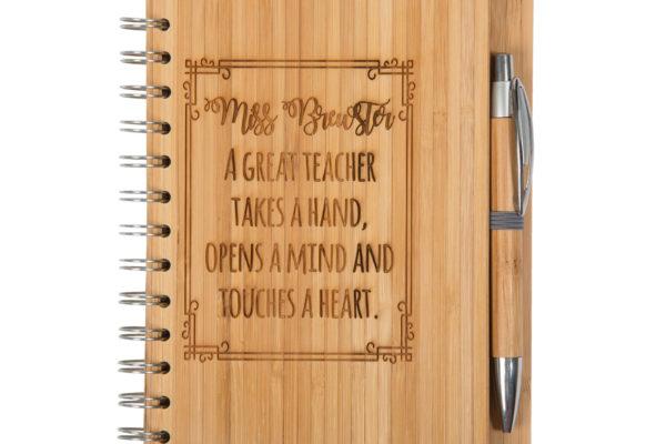 Jajo great teacher bamboo notebook JBTHB17