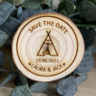 Jajo rustic slice teepee wedding save the date JTSTD20