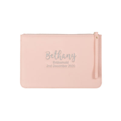 Jajo saffiano leather style pouch pink JEBB19