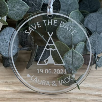 Jajo teepee acrylic save the date JTASTD20