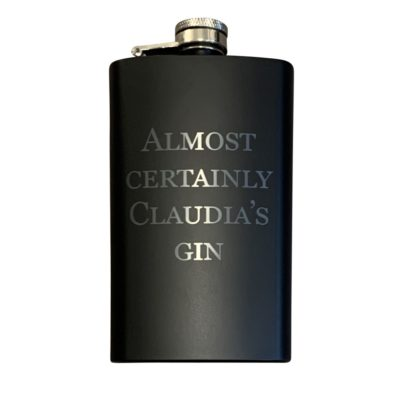 Jajo black hip flask gin inside JBHF20