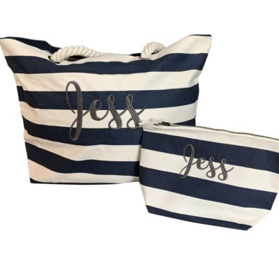 Jajo blue stripe beach bag JBSB20