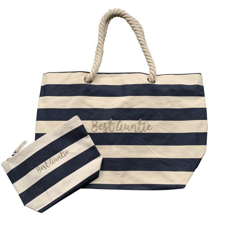 Jajo pink stripe beach bag JPSB20 1