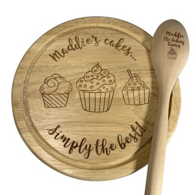 Jajo cupcake stand and spoon JCCSS20