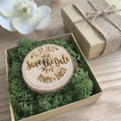 Jajo rustic save the date moss box JRSMB20 close1