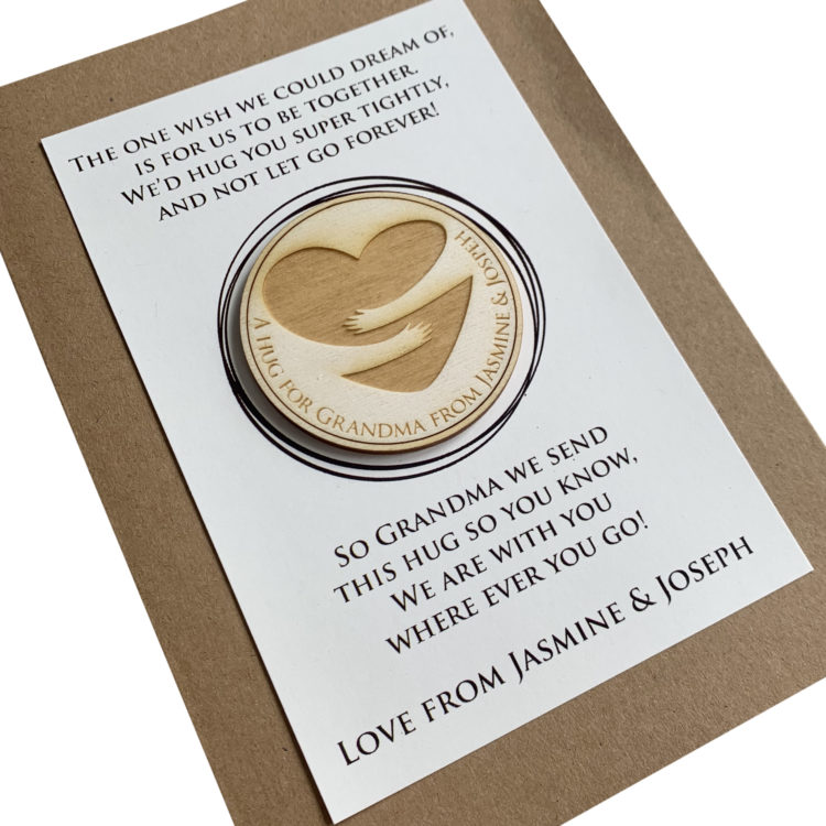 Jajo Tall Hug Card pocket hug token JPHTTC20 close w