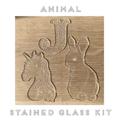 Jajo animal stained glass JASGK20