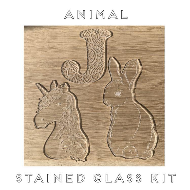 Jajo animal stained glass JASGK20