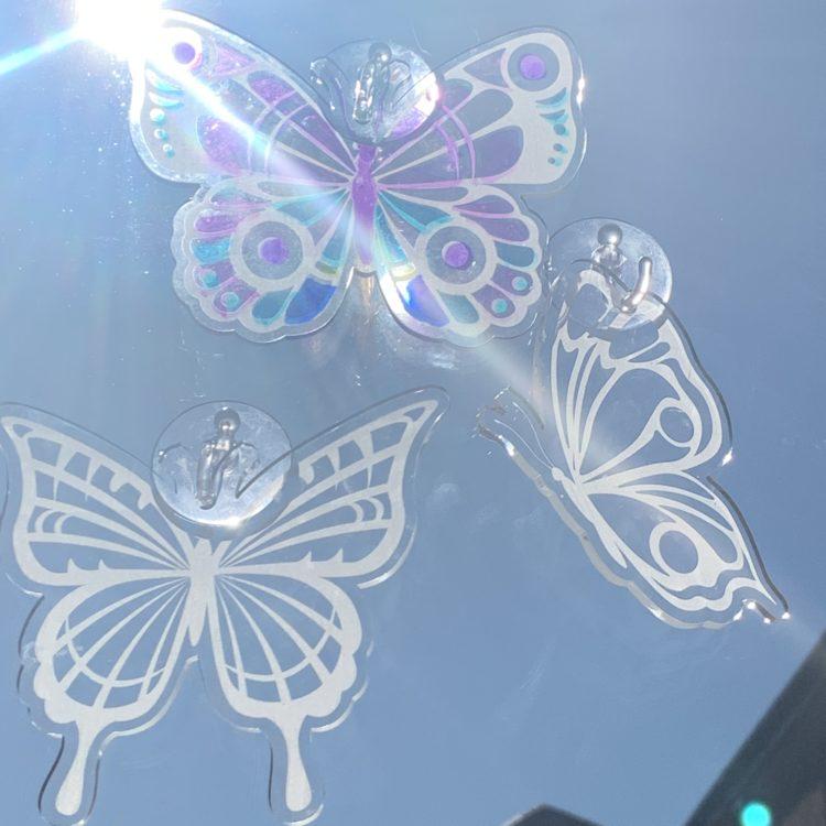 Jajo butterfly stained glass JBSGK20