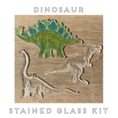 Jajo dino stained glass JDSGK20