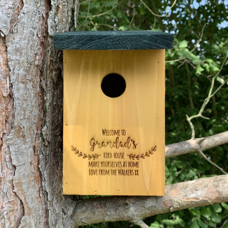 Jajo UK engraved Bird house