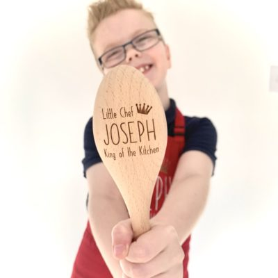 Jajo king of the kitchen personalised wooden spoon
