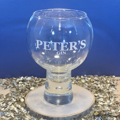 Quirky personalised gin glass