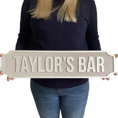 Jajo personalised bar sign