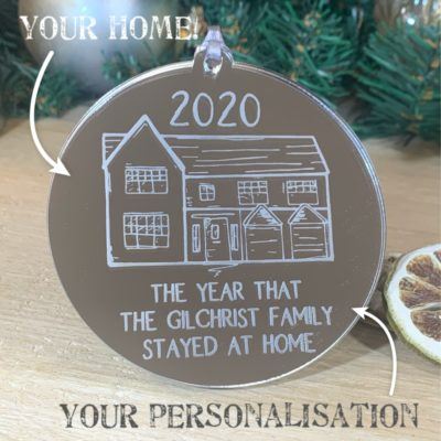 Home in Lockdown 2020 Bauble